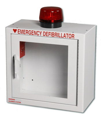 AED Wall Cabinet Compact - Surface Mount with Alarm & Strobe Light Product Photo